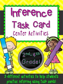 Inference!  3 Task Card Inferring Games Common Core Litera
