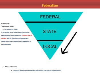 3. The Constitution - Lesson 3 of 6 - Federalism