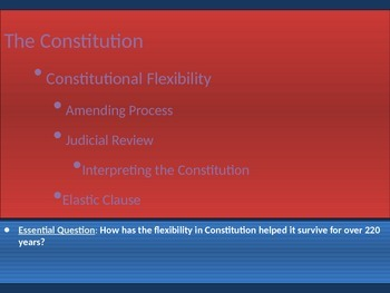 3. The Constitution - Lesson 4 of 6 - Constitutional Flexibility