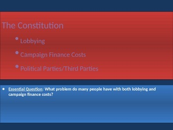 3. The Constitution - Lesson 5 of 6 - Political Processes