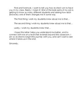 3 Things I Wish My Teacher Knew