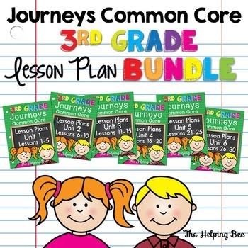 3 Third Grade CCSS Journeys LA Bundle Units 1-6/30 Weeks L