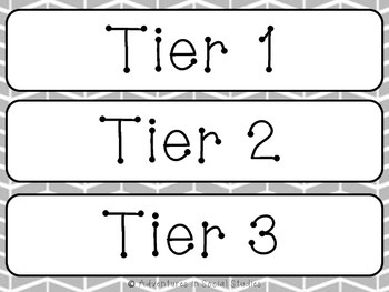3 Tiers of Vocabulary - Word Wall Headings