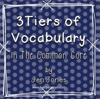3 Tiers of Words: Understanding Vocabulary Instruction in the Common Core