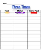3 Times Each Spelling Editable