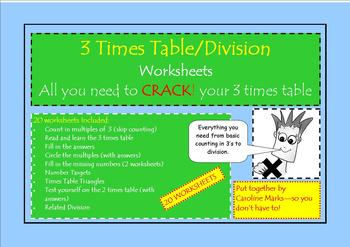 3 Times Table  Everything you need from skip counting to d