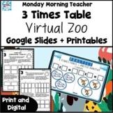 3 Times Table Multiplication Digital Zoo Google + Printabl