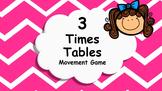 Multiplication 3 Times Tables Game / Brain Break