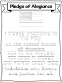 3 Trace the Pledge of Allegiance-Printed, D'Nealian, and Cursive. Handwriting.