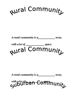 3 Types of Communities Booklet