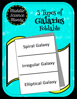 3 Types of Galaxies Foldable