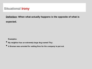 3 Types of Irony Lesson and Review