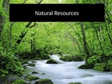 3 Types of Natural Resources