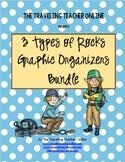 3 Types of Rocks Graphic Organizer Bundle