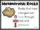 3 Types of Rocks Posters