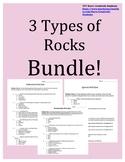 3 Types of Rocks Quiz BUNDLE