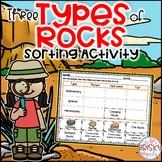 3 Types of Rocks Sort