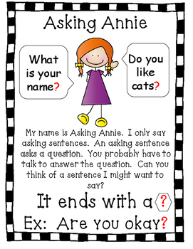 3 Types of Sentences - UNIT:  posters, centers, & practice printables