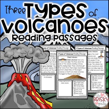 3 Types of Volcanoes Reading Passages
