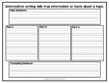 Writing Graphic Organizers for Narrative, Opinion, & Informative (CCSS aligned)