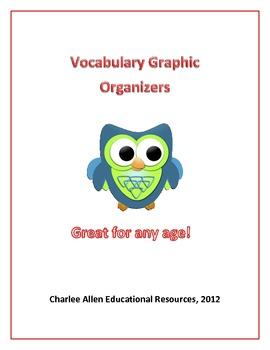 3 Useful Vocabulary Graphic Organizers
