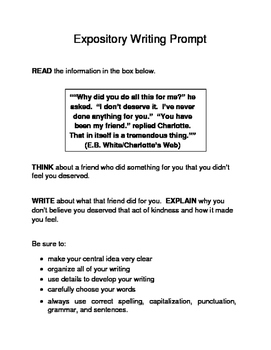 3 Valentine-Themed Expository Prompts Children's Books Set A 3rd 4th 5th Grades