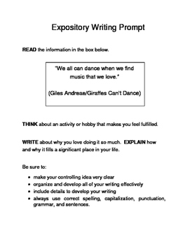 3 Valentine-Themed Expository Prompts Children's Books Set C 6th 7th Grades