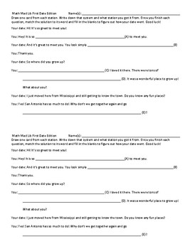 3 Variable Madlibs: First Date Edition