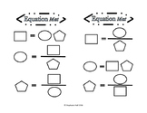 3- Variable Science Equation Manipulative Mat set