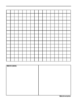 WORD SEARCH TEMPLATE 3 templates English French Spanish language spelling center