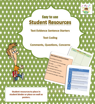 Student Resources: Citing Evidence Sentence Starters, Text Coding, CQC's