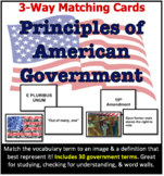3-Way Matching Vocabulary Cards - Principles of American G