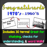 3-Way Matching Vocabulary Cards - The 1970's & 1980's
