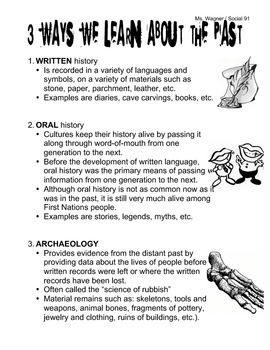 3 Ways We Learn About The Past (Written, Oral, Archaeology)