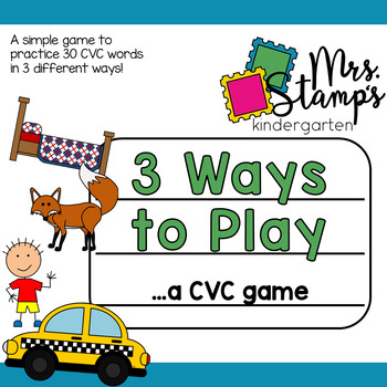 CVC Game:  3 Ways to Play