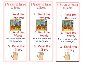 3 Ways to Read Student Bookmark