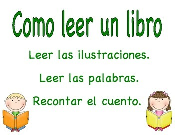 3 Ways to Read a Book - Bilingual Posters