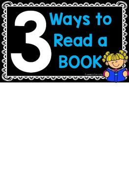 3 Ways to Read a Book {Freebie}