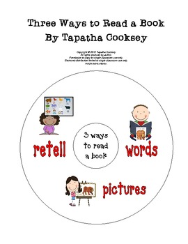 3 Ways to Read a Book Picture Cards