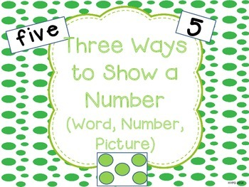 3 Ways to Show a Number *FREEBIE*