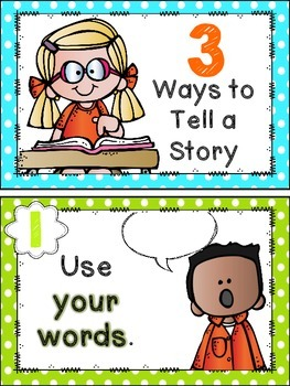 3 Ways to Tell a Story Anchor Charts
