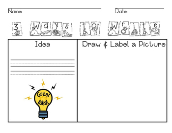 3 Ways to Write {Idea Trait Freebie}