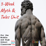 """3-Week """"Myth & Tales Unit"""" for Middle and High School Engl"""