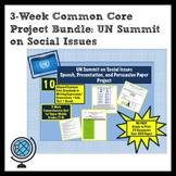 3-Week Project BUNDLE: UN Social Issues Summit Persuasive