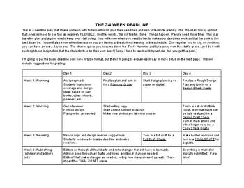 3 Week Yearbook Deadline plan