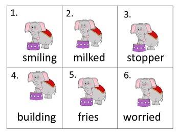 Literacy Centers:  Circus Elephants