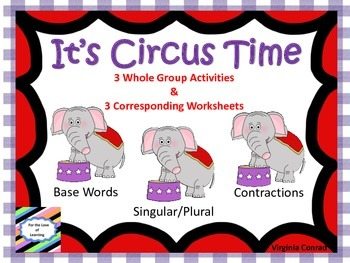 Circus Themed Elephants Literacy Centers