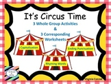 Whole Group Reading Activities & Worksheets--Circus Theme (circus tents)