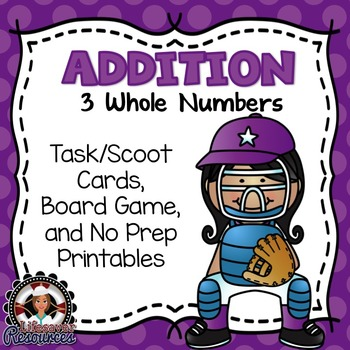 3 Whole Numbers | Addition Game and Printable Worksheets