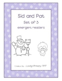 3 Winter Emergent Readers - Sid and Pat